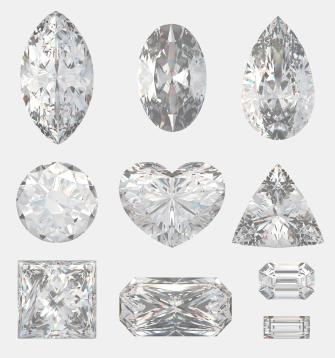 Diamantschliff - verschiedene Formen