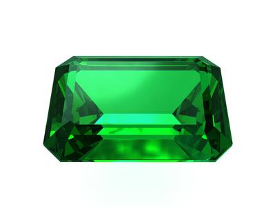 Smaragd im Smaragdschliff
