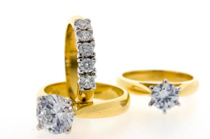 Diamantringe in Krappenfassung