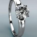 Diamantring mit Krappenfassung