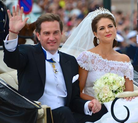 Prinzessin Madeleine bei ihrer Hochzeit